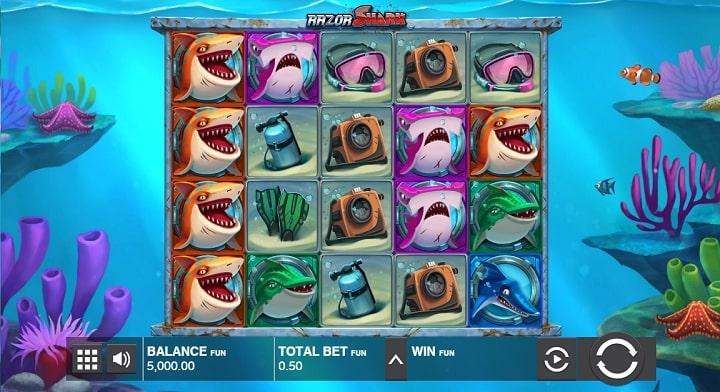 Razor Shark геймплей